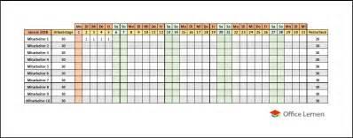 Kalender 2018 Lernen Kostenlose Excel Urlaubsplaner Vorlagen 2018 Office