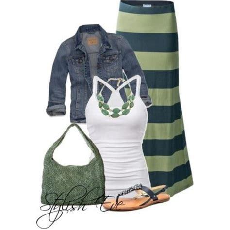 skirt striped skirt maxi skirt vest green n navy