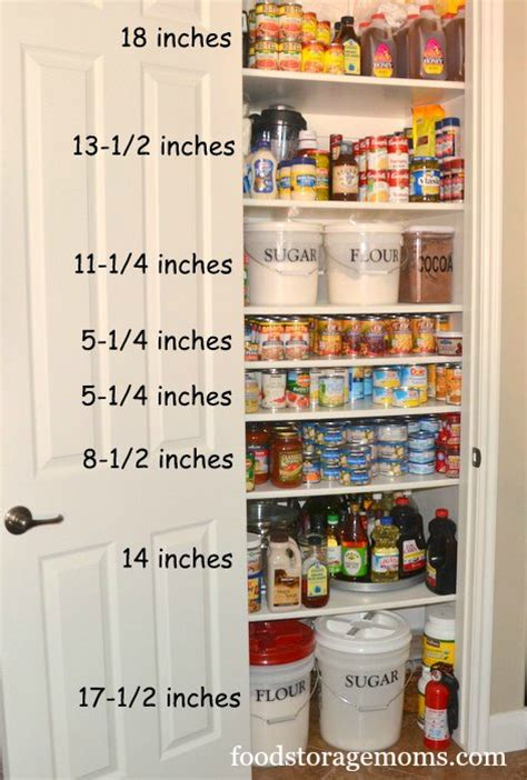 pantry shelf spacing 17 canned food storage ideas to organize your pantry