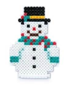 pony bead snowman patterns hama bead patterns
