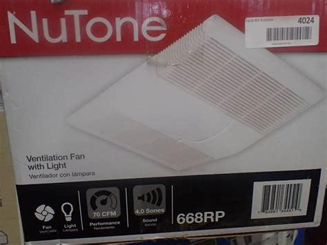 broan nutone 668rp fan and light broan nutone 668rp bathroom fan light name brand