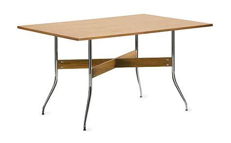nelson swag leg rectangular dining table design within