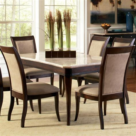 steve silver dining room furniture steve silver marseille transitional rectangular marble top