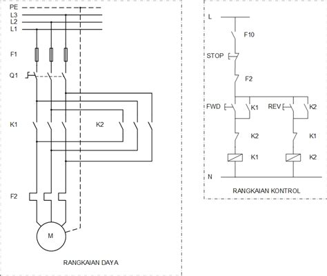 Panel Inventer Otomatis Menghidupkan Inventer Ketika Listrik Padam listrik rangkaian balik putaran