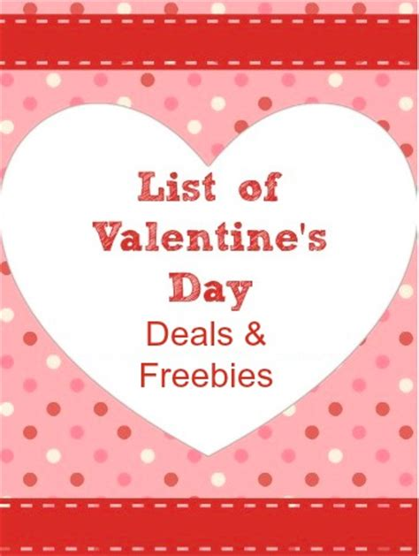 valentines day deals valentine s day deals freebies