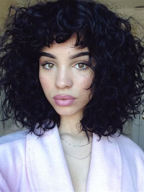 curly hair chinese bang black women 1000 ideas about bangs curly hair on pinterest