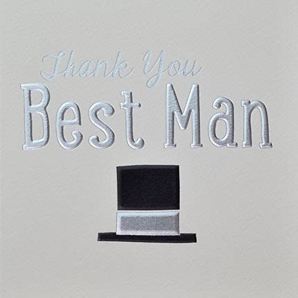 Best Man Thank You Card   Karenza Paperie