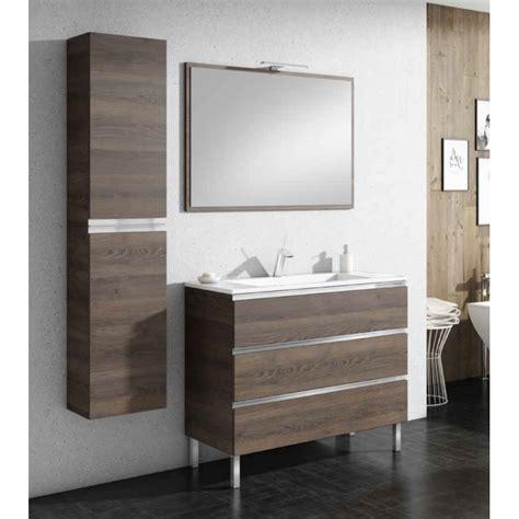 meuble de salle de bain sur pieds samoa  tiroirs robinet   meuble sur pieds
