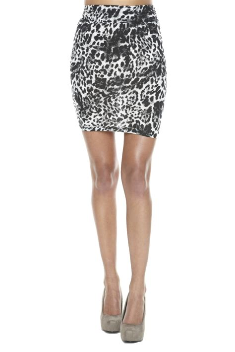 Bj 0397 Printed Fashion Skirt jet leopard print mini skirt from beverly by a sweet closed shoptiques