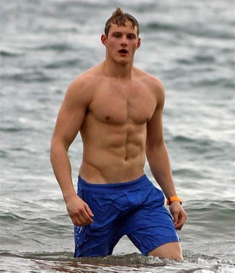 guys alexander ludwig shirtless and bulging in