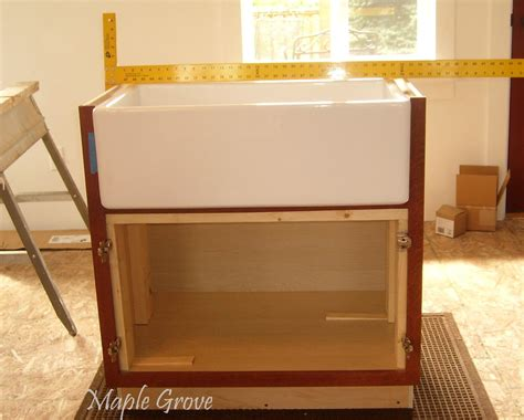 apron sink base cabinet maple grove how to build a support structure for a farm