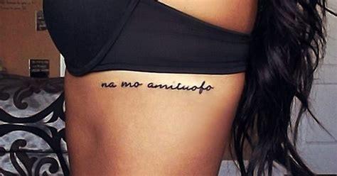 tattoo placement rib cage simple na mo amitabha tattoo quotes on rib buddha quote