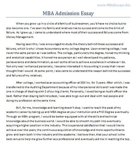 Does It Matter Which I Apply For Mba by Mba Essay Your Homework Help