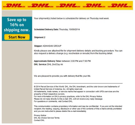 authorization letter to use dhl account dynamoo s dhl themed phish goes to a lot of effort