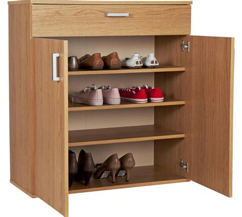 buy shoe storage buy home venetia shoe storage cabinet oak effect at