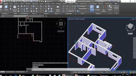 curso de autocad gratis parte 01 hacer plano de una casa curso autocad 3d dibujar plano de casa en 3d parte 4