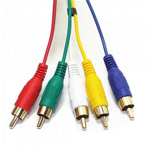 Rca Intersys 5m Length hdmi to 5 rca rgb audio av component cable 1 5m length free shipping dealextreme