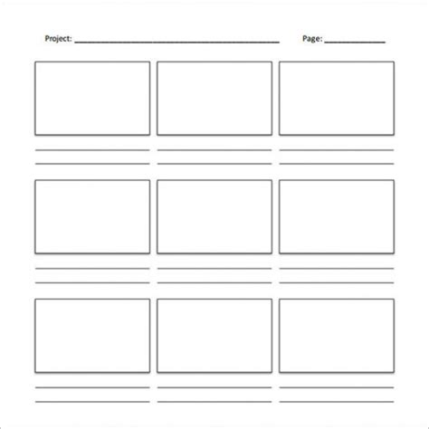 Professional Blank Animation Storyboard Template Word Pdf Microsoft Excel Storyboard Template