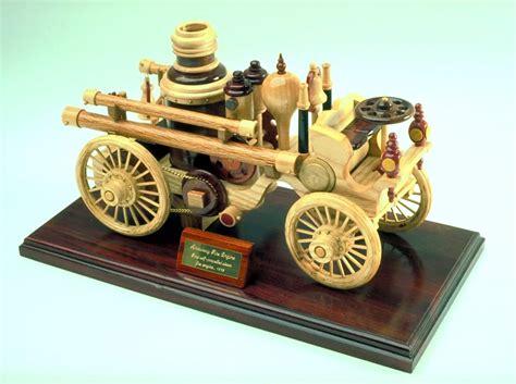 woodworking plan   wood steam powered fire engine