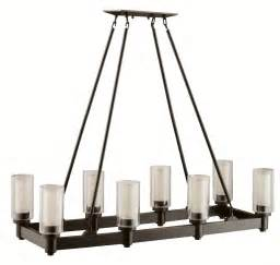 Rectangle Chandelier Kichler 2943oz Circolo Rectangular Chandelier