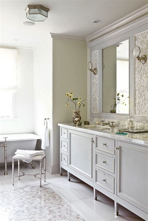 traditional white bathrooms gray bathroom vanity traditional bathroom farrow