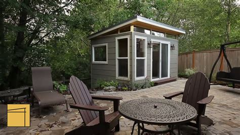 customer profile modern shed home office