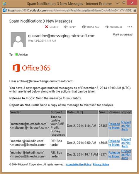 Office 365 Quarantine Notifications Exchange Protection Quarantine Part 3 Techgenix
