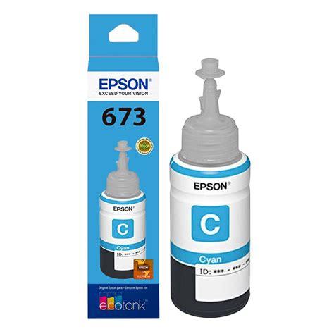 Tinta Epson T673 Tinta Epson T673 Ciano L805 L800 L810 L1800 Original