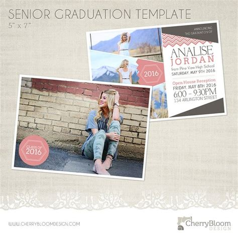 Senior Graduation Cards Templates by Senior Graduation Announcement Template For Photographers