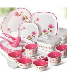 Kitchen Cabinet Prices Online nayasa white square dinner set 32 pcs buy online at best