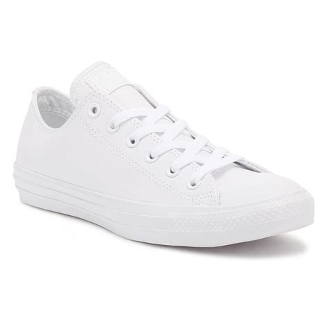 Harga Converse All White converse all ox mens womens white leather trainers