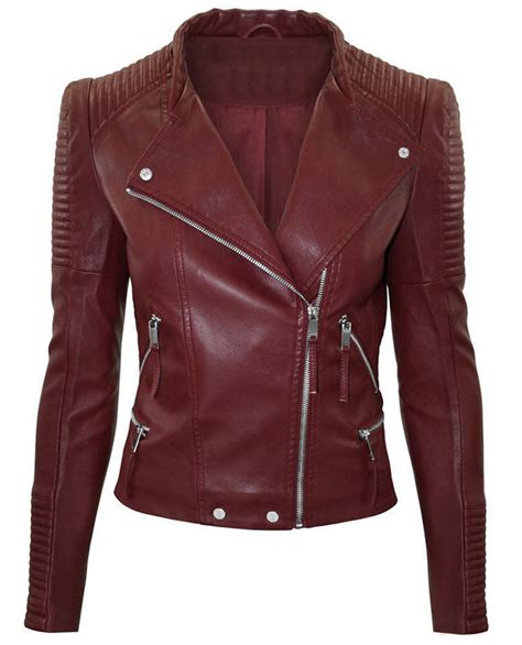 jacket color maroon color leather jacket biker stylish