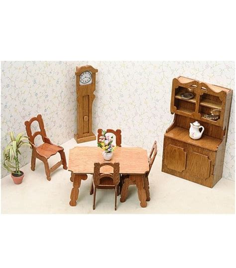 Dollhouse Dining Room Furniture Greenleaf Dollhouse Furniture Dining Room Set Jo