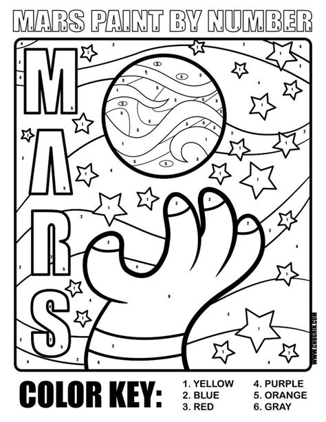 planet mars printables coloring page ruimte project