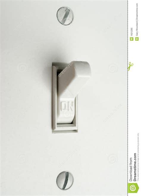 Switch On light switch stock photo image 1921290