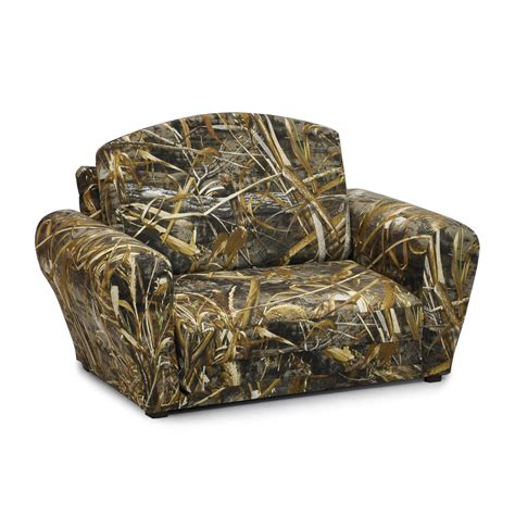 camo kids couch kidz world real tree max 5 camouflage sleepover sofa
