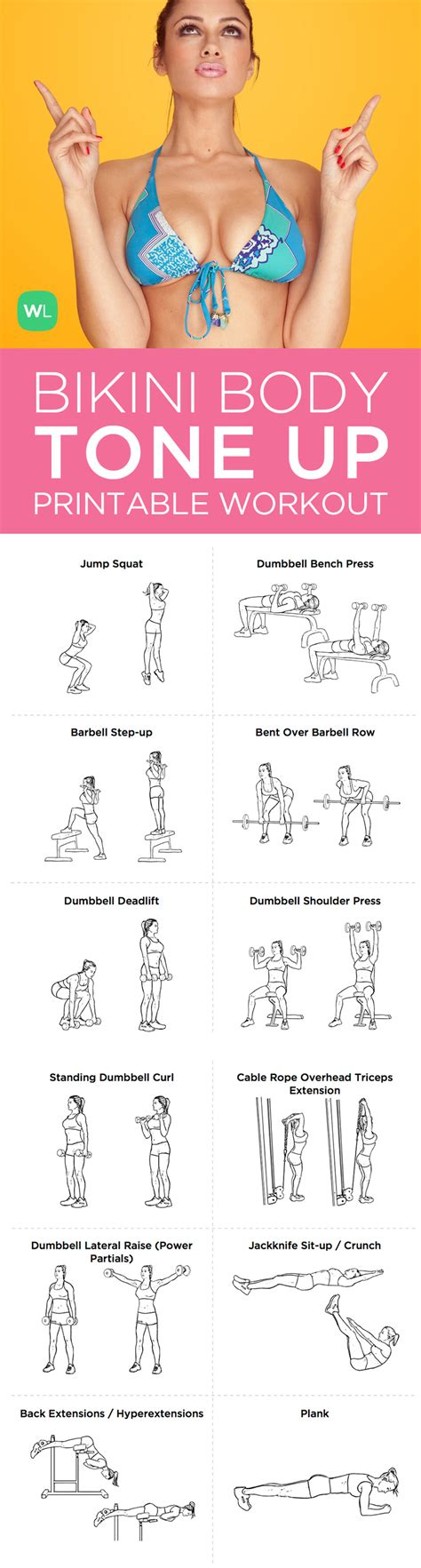tone up printable workout plan for