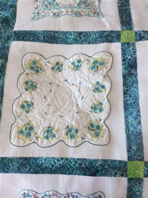 quilt pattern using handkerchiefs 1000 images about vintage linen quilts on pinterest