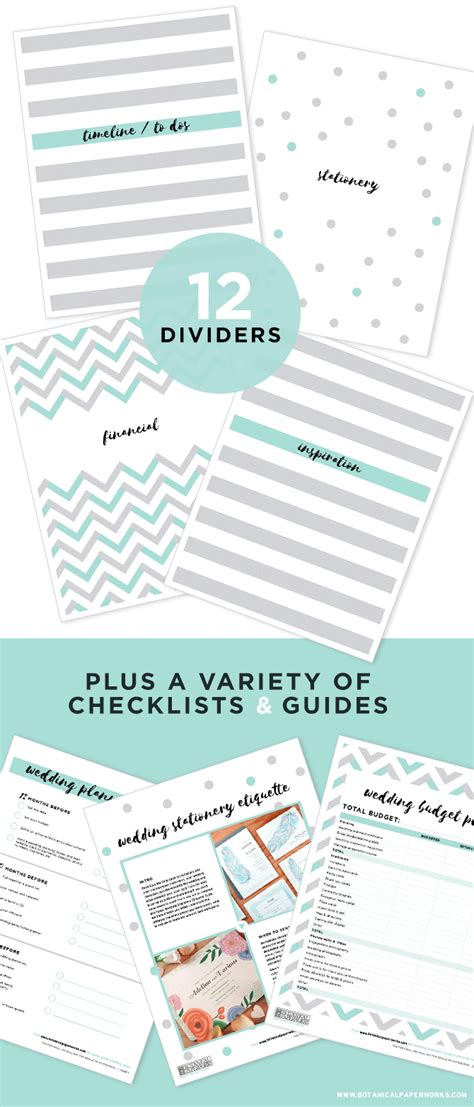 wedding planning binder sections free printables new wedding planning binder download