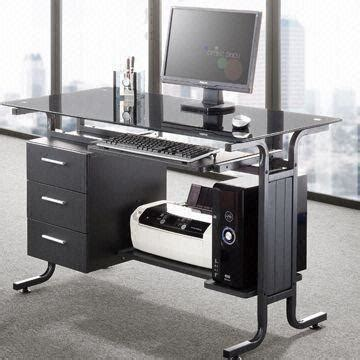 Glass Computer Desk With Drawers Glass Computer Desk With Drawers China Computer Desk With Tempered Glass Keyboard Panel Drawers