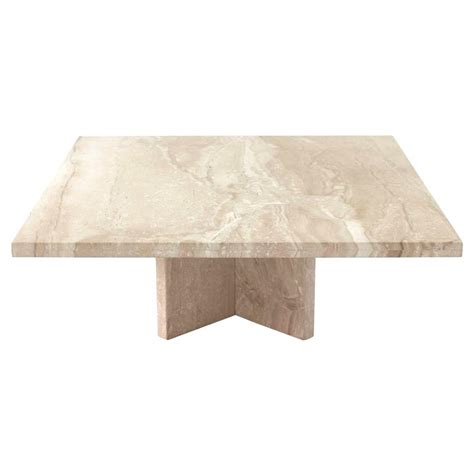 travertine coffee table large square travertine coffee table at 1stdibs