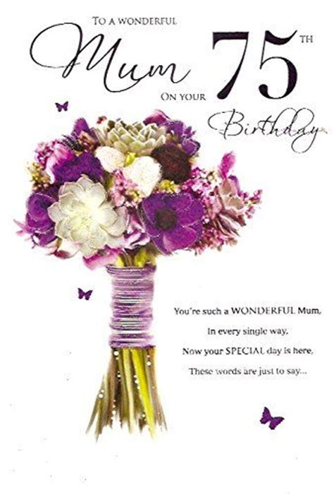 75th Birthday Cards Messages 26 Best Images About Mum Birthday Cards On Pinterest