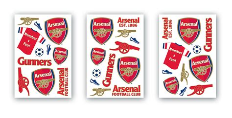 arsenal wall sticker brewers wallpaper direct details about huge logo removable decal home