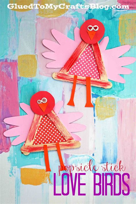 images of and craft for popsicle stick birds kid craft glued to my crafts