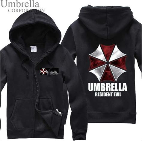 Hoodie Jaket Evil Corp Sweater Warung Kaos biohazard umbrella corporation resident evil coat hoodie jacket costume free shipping in