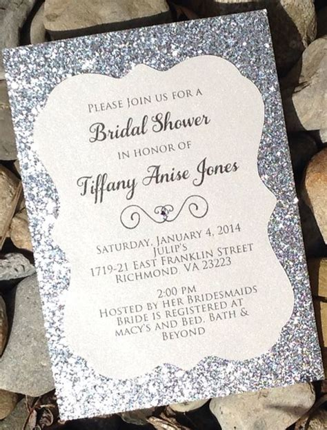 Sparkly Bridal Shower Invitations by Bridal Shower Invitation 25 Glitter Bridal Shower