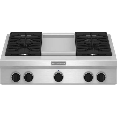 "KitchenAid KGCU463VSS 36"" Commercial Style Rangetop with 4"