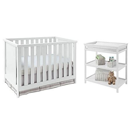 White Crib And Changing Table Set Imagio Baby By Westwood Design Casey 3 In 1 Convertible Crib And Changing Table Set In White
