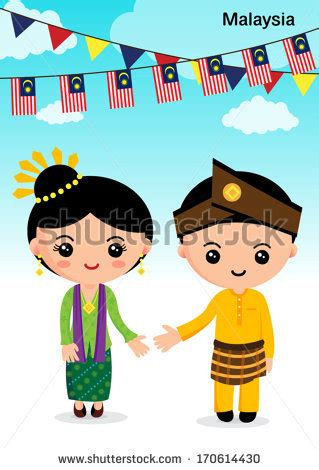 Wedding Animation Malaysia by Malaysia Traditional Costume Asean Boy And Stock