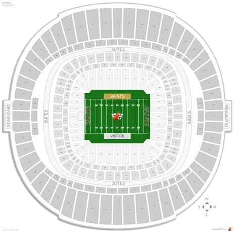 superdome diagram new orleans saints seating guide superdome